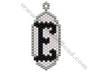 Initial E Pendant Bead Pattern By ThreadABead