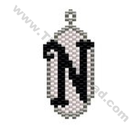Initial N Pendant Bead Pattern By ThreadABead