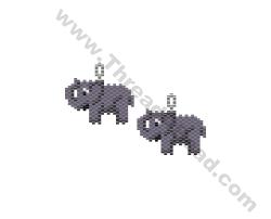 Elephant Earring Bead Pattern By ThreadABead