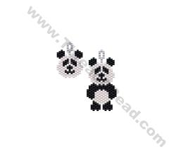 Mini Panda Earring Bead Pattern By ThreadABead