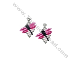 Dragonfy Earring Bead Pattern By ThreadABead