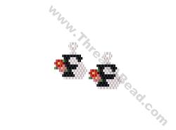 Initial F Earring Bead Pattern By ThreadABead