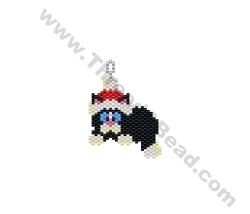 Santa Cat Pendant Bead Pattern By ThreadABead