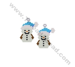 Snowman Earring Bead Pattern By ThreadABead
