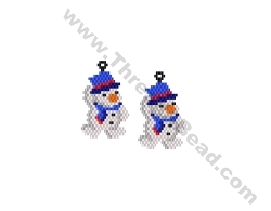 Hang onto your Hat Snowman Earring Bead Pattern By ThreadABead