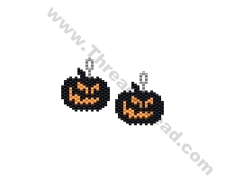 Mean Pumpkin Earring Bead Pattern By ThreadABead