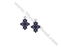 Pretty Little Earring Bead Pattern By ThreadABead