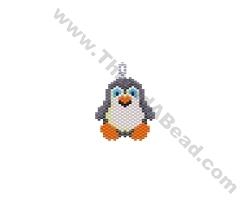 Penguin Pendant Bead Pattern By ThreadABead