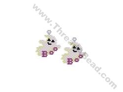 Ghost Earring Bead Pattern By ThreadABead