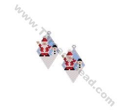 Santa and Snowman Diamond Earring Bead Pattern By ThreadABead