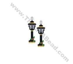 Christmas Lantern Earring Bead Pattern By ThreadABead