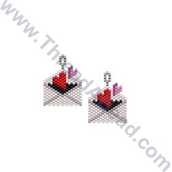 Hearts Envelope Earring Bead Pattern By ThreadABead