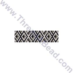 Black Grey and White Geometric Bracelet Bead Pattern By