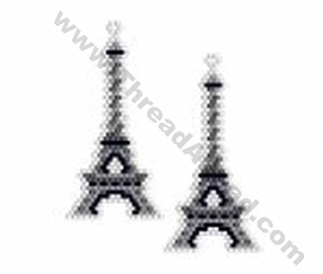 Eiffel Tower Earring Bead Pattern By ThreadABead
