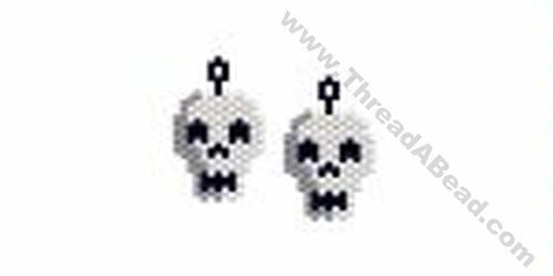 Skull Earring Bead Pattern By ThreadABead