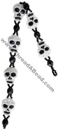 Skull Bracelet Bead Pattern By ThreadABead