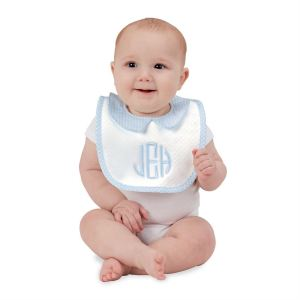 MP mate blue bib baby