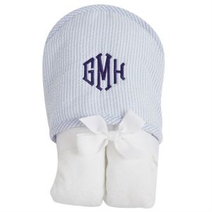 MP seer blue hooded towel mgm