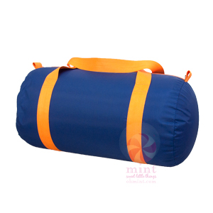 OM navy orange duffel