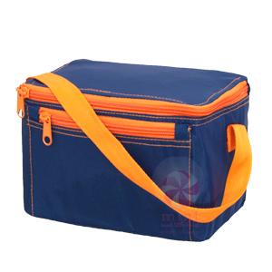 OM navy orange lunchbox