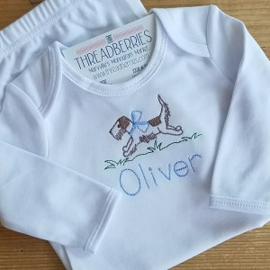 puppy running oliver gown