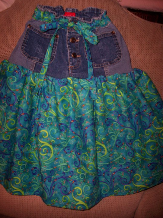 Denim Recycling 1: Girls Jeans Remake to Skirt