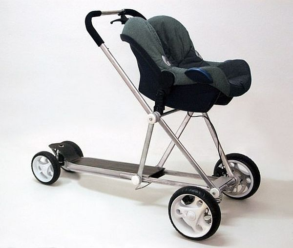 Baby stroller and scooter hybrid_1
