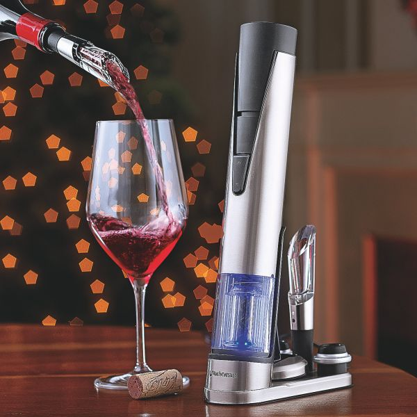 Electric Blue 1 wine opener and preserver set