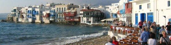 Mykonos seaside restaurant and cafe