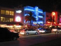 Neon Art Decco South Beach
