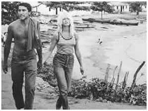 Bob Zagury and Brigitte Bardot in Buzios mid '60s