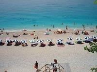 lefkada island, engremnoi beach,view from the stairs