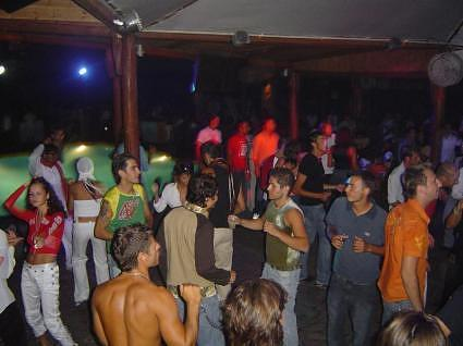 The dance floor at Cavo Paradiso