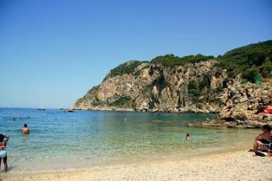 The best beach of Corfu, Paleokasstritsa.
