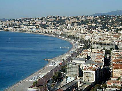 Coastline view of Nice, France (5)