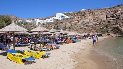 Super Paradise Beach, Mykonos island, Greece