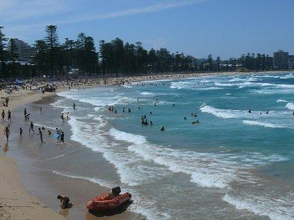 A blustery day at Manly Beach, Sydney