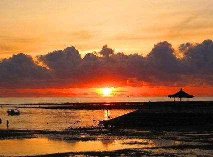 Dawn at the Nusa Dua Beach, Bali, Indonesia