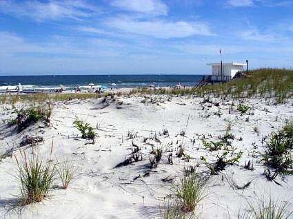 The beach at Island Beach State Park at the Jersey Shore