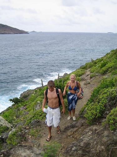 Hiking to Colombier beach