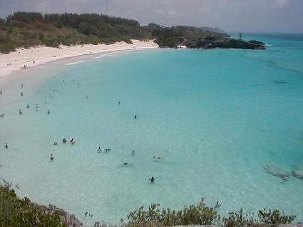 View of Elbow Beach Bermuda