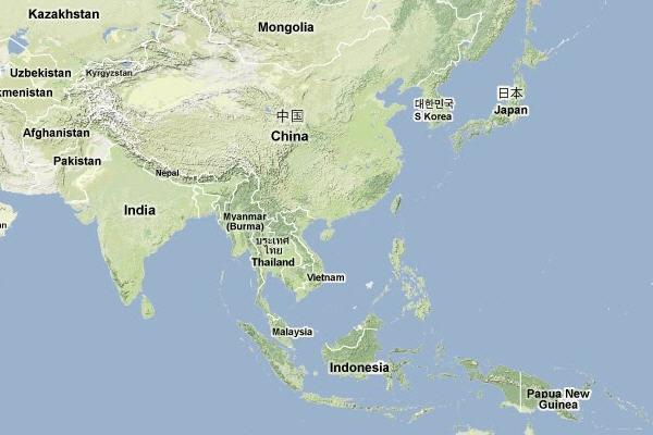 Map Of Asia Today.Map Of Asia Three Best Beaches