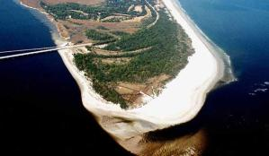 Aerial picture of Amelia Island State Park