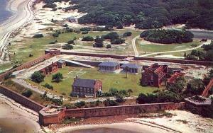 Aerial view of Fort Clinch State Park , Fernandina Beach, Florida