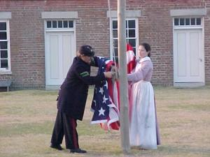 The park rangers at Fort Clinch State Park, Fernandina Beach, Florida