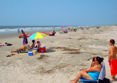 Families at Beachwalker Park, Kiawah Island