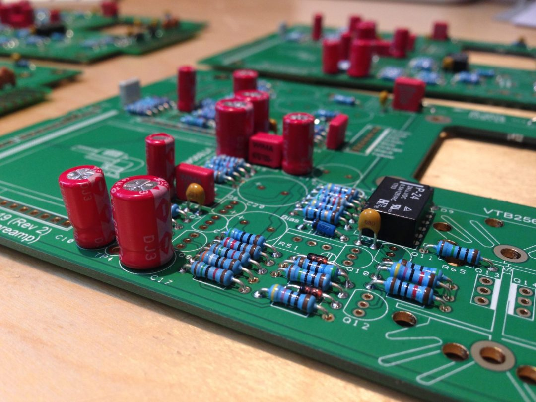 AML ez1081 Mic Pre - Small Electrolytics