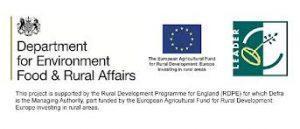 defra, EU and feildfair Leader Logo