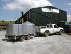 our ring kilns loaded and onto our 10ft trailer and truck, ready to ship back to Hampshire