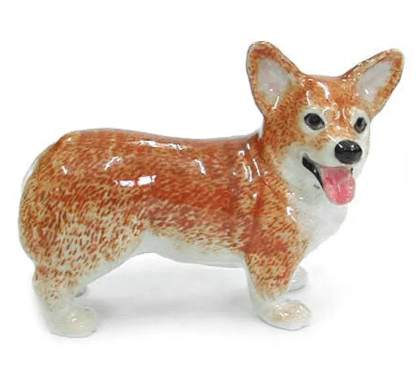 Pembroke Corgi Ceramic Figurine